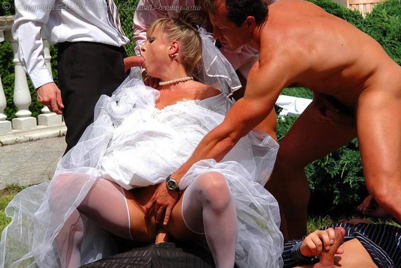 Свадьба с невестой порно