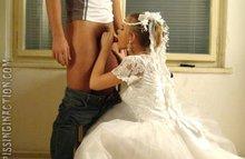 Кончил прямо на фату невесты