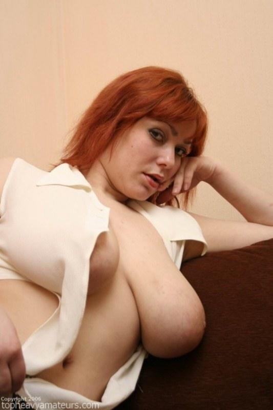 Порно фото рыжих больших сисек