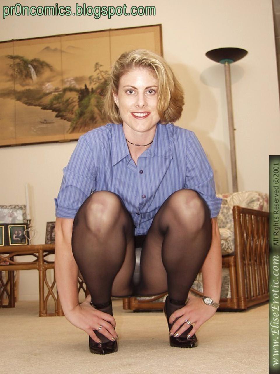 Под юбкой у женщины