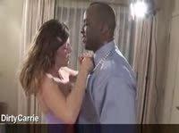 Межрасовый секс с телочкой