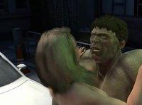 3D порно с зелёным Халком