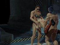 Бэтман и Робин трахают телочку