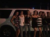 Девушки в лимузине устроили вечеринку с распитием алкоголя