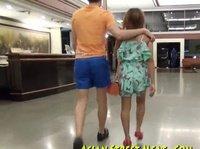 Прогулка с послушной кореянкой перед её пропихоном