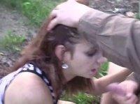 Перепихон с подружкой на улице