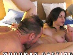 Неожиданный групповой секс на жестком кастинге у Вудмана