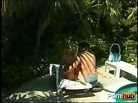 Сняли виллу с бассейном для жаркой ебли